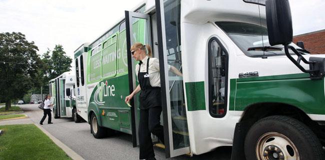 Valparaiso VLine Bus Header - MJF Rentals - Valparaiso Indiana 46383